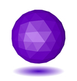 Abstract violet low polygonal sphere vector image