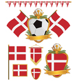 denmark flags vector image