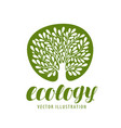 ecology environmental protection nature logo or vector image