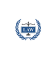 law emblem abstract logo vector image