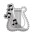 lyre instrument icon vector image
