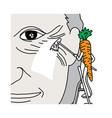 metaphor benefit of beta-carotene in carrot is vector image