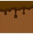 Milk Melted Chocolate Streams Background vector image