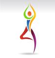 Yoga Pose 2 Logo vector image