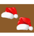 Set of christmas hats Santa Claus vector image