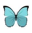 Blue butterfly icon in flat style vector image