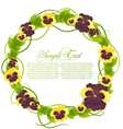 with floral frame vector image vector image