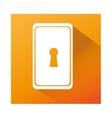 key hole isolated icon vector image