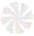 boot footprint fireworks swirl flower vector image