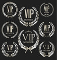 vip laurel wreath silver collection vector image