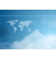 Hi-tech background in cloudy sky vector image vector image