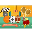 Gym with sport equipment concept vector image