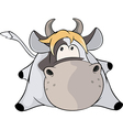 Laying cow cartoon vector image