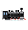 locomotive isolated vector image