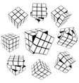 Rubik's cube puzzle vector image vector image