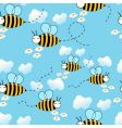 flying bees background vector image vector image