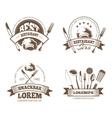 restaurant labels emblems badges logos vector image