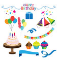 birthday party stickers set image vector image