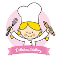 Little Chef girl vector image
