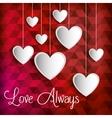 poster love always heart hanging vector image
