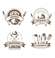 restaurant labels emblems badges logos vector image