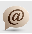 Mail sign Brown gradient icon on vector image