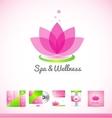 Spa wellness lotus logo icon vector image