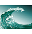 A high wave at the sea vector image
