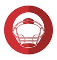 helmet american football front view shadow vector image