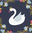 swan lake greeting card poster and vector image