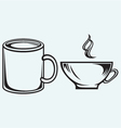 Collection coffee cups vector image vector image
