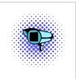 Security camera comics icon vector image