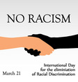 International day for the elimination of Racism vector image
