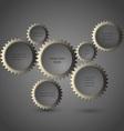 Metallic gear wheels vector image vector image