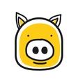 Cartoon animal head icon Pig face avatar vector image