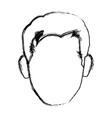 character man face comic pop art vector image