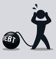 debt design vector image