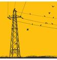 electricity pylon vector image