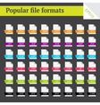 File formats vector image