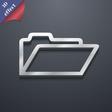 Folder icon symbol 3D style Trendy modern design vector image