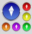 ice cream icon sign Round symbol on bright vector image