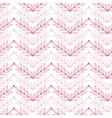 Pink lineart leaves chevron seamless pattern vector image
