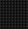 Seamless black geometric embossed pattern vector image