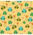 retro frog pattern vector image vector image