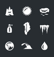 set of global warming icons vector image