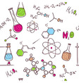 Hand draw chemistry pattern vector image vector image