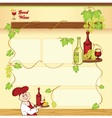 Wine concept for web template vector image