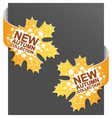 left and right side sign  new autumn collection vector image