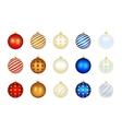 Set of color Xmas balls vector image