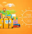 Vacation travelling concept travel with the vector image